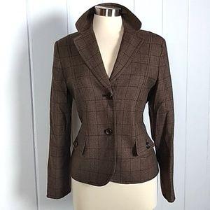 Pendleton Brown 100% Virgin Wool Blazer 10